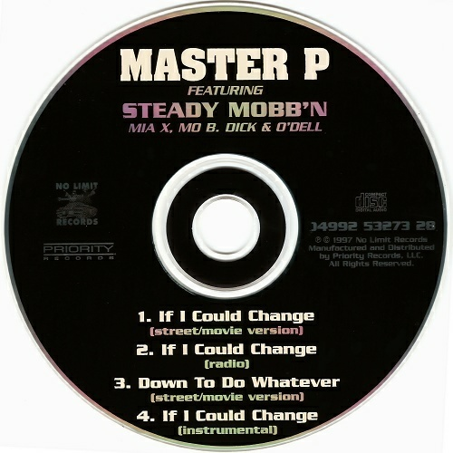 Master P - If I Could Change (CD, Maxi-Single) cover