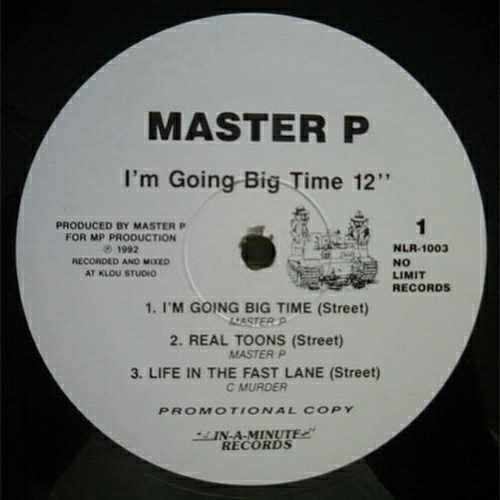 Master P - I`m Going Big Time (12'' Vinyl, Promo) cover