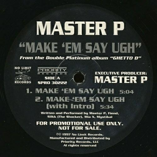 Master P - Make `Em Say Ugh (12'' Vinyl, Promo) cover