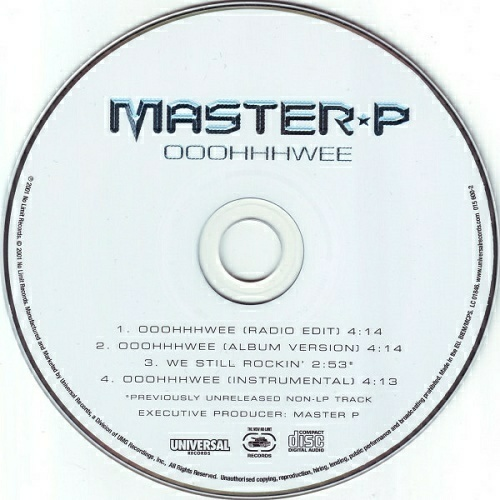 Master P - Ooohhhwee (CD, Maxi-Single) cover