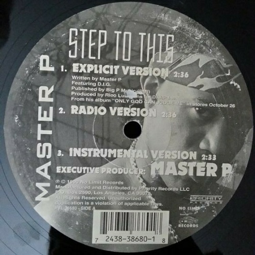 Master P - Step To This (12'' Vinyl, 33 1-3 RPM) cover