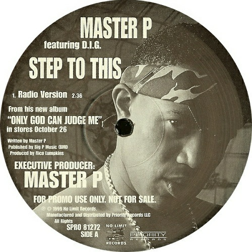 Master P - Step To This (12'' Vinyl, 33 1-3 RPM, Promo) cover