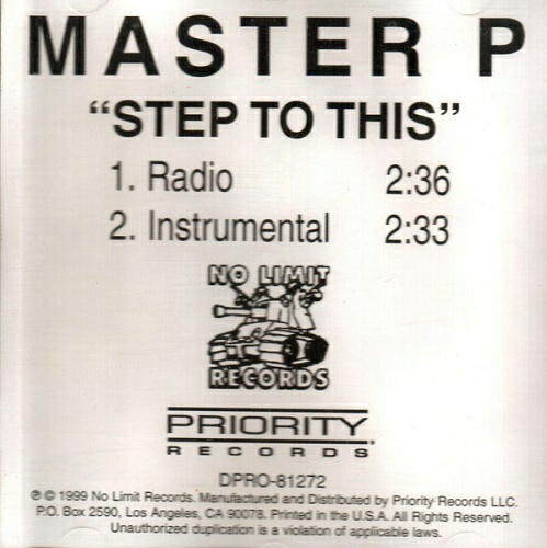 Master P - Step To This (CDr Single, Promo) cover