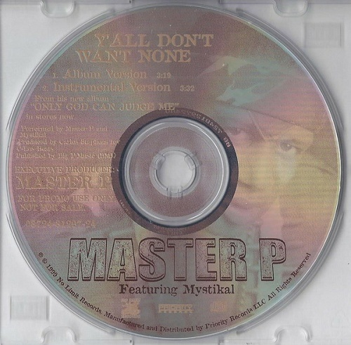 Master P - Y`all Don`t Want None (CD Single, Promo) cover