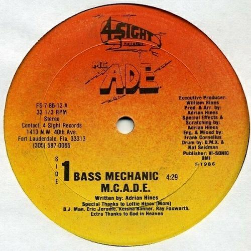 M.C. A.D.E. - Bass Mechanic (12'' Vinyl, 33 1-3 RPM) cover