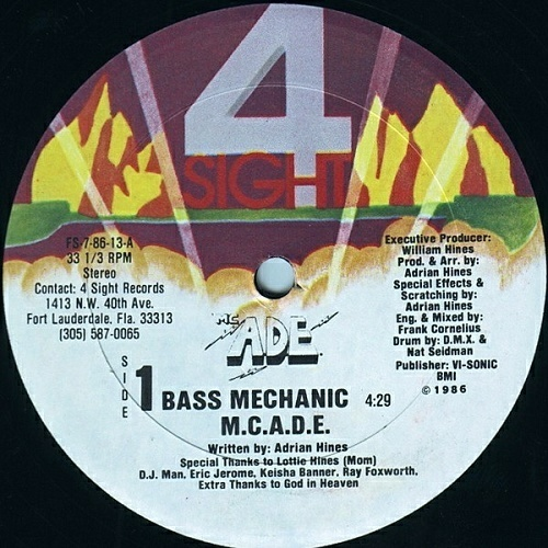 M.C. A.D.E. - Bass Mechanic (12'' Vinyl, 33 1-3 RPM, Repress) cover