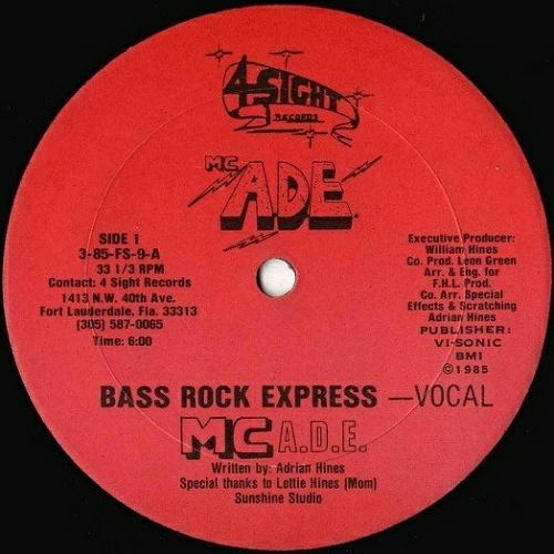 M.C. A.D.E. - Bass Rock Express (12'' Vinyl, 33 1-3 RPM) cover
