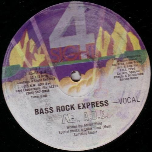 M.C. A.D.E. - Bass Rock Express (12'' Vinyl, 33 1-3 RPM, Repress) cover