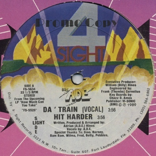 M.C. A.D.E. - Da` Train (12'' Vinyl, 33 1-3 RPM, Promo) cover