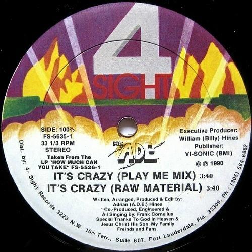 M.C. A.D.E. - It`s Crazy / How Much Can You Take (12'' Vinyl, 33 1-3 RPM) cover