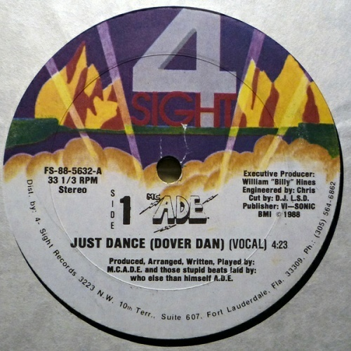 M.C. A.D.E. - Just Dance (Dover Dan) (12'' Vinyl) cover