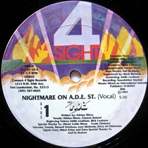 M.C. A.D.E. - Nightmare On A.D.E. St. (12'' Vinyl, 33 1-3 RPM) cover