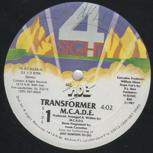 M.C. A.D.E. - Transformer (12'' Vinyl, 33 1-3 RPM) cover