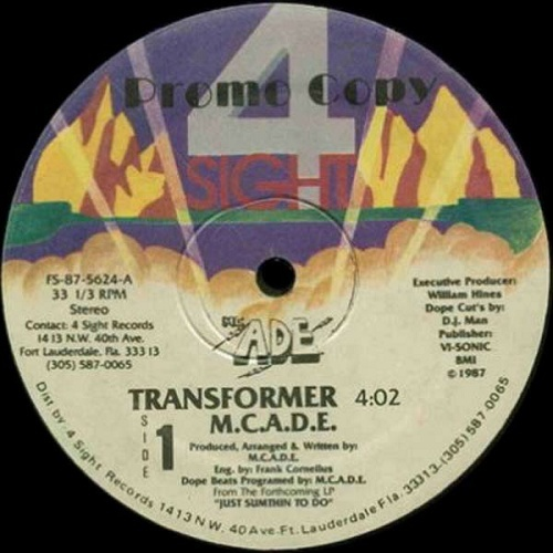 M.C. A.D.E. - Transformer (12'' Vinyl, 33 1-3 RPM, Promo, Color Labels) cover