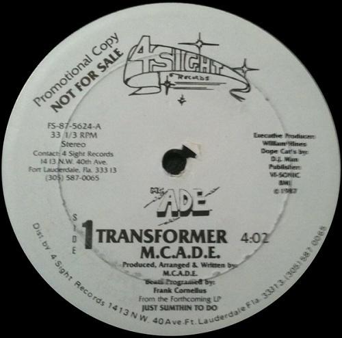 M.C. A.D.E. - Transformer (12'' Vinyl, 33 1-3 RPM, Promo, White Labels) cover