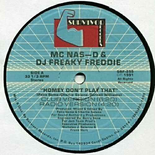MC Nas-D & DJ Freaky Freddie - Homey Don`t Play That # Bass That Tune Vol. II (12'' Vinyl, 33 1-3 RPM) cover