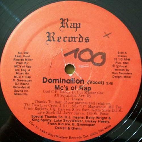 MC`s Of Rap - Domination (12'' Vinyl, 33 1-3 RPM) cover