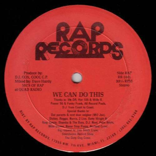 MC`s Of Rap - We Can Do This / Come & Get It (12'' Vinyl, 33 1-3 RPM) cover