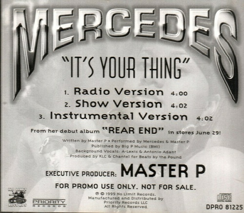 Mercedes - It`s Your Thing (CD Single, Promo) cover