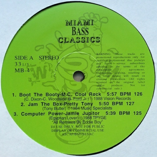 Miami Bass Classics Vol. 4 cover