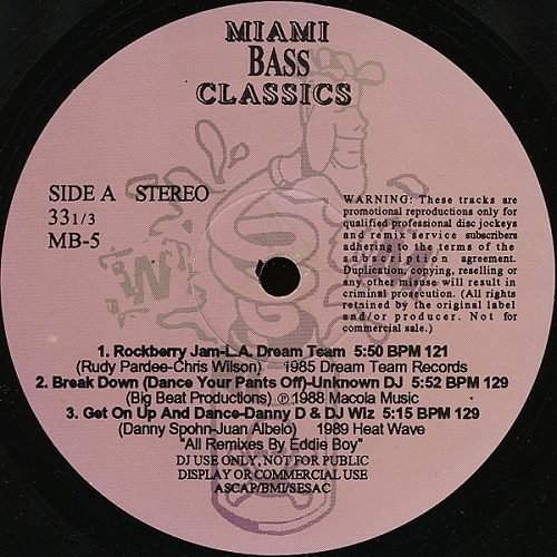Miami Bass Classics Vol. 5 cover