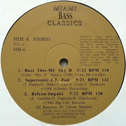 Miami Bass Classics Vol. 6 cover