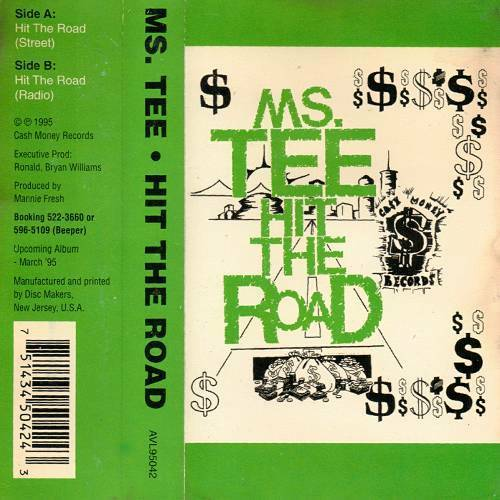 Ms. Tee - Hit The Road (Cassette Single) cover