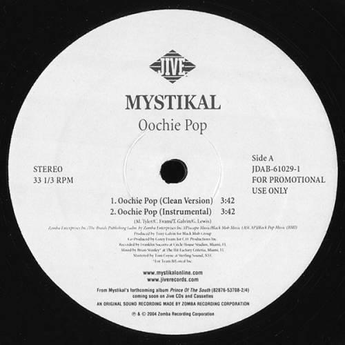 Mystikal - Oochie Pop (12'' Vinyl, Promo) cover