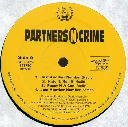 Partners-N-Crime - Partners-N-Crime (12'' Vinyl) cover