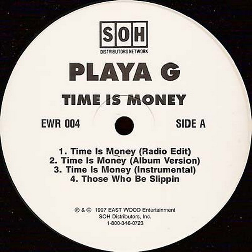 Playa G - Time Is Money (12'' Vinyl) cover
