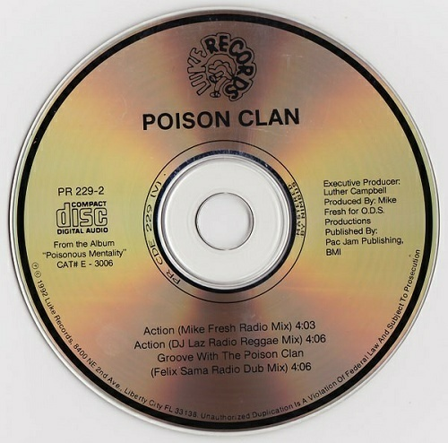 Poison Clan - Action (CD Single, Promo) cover