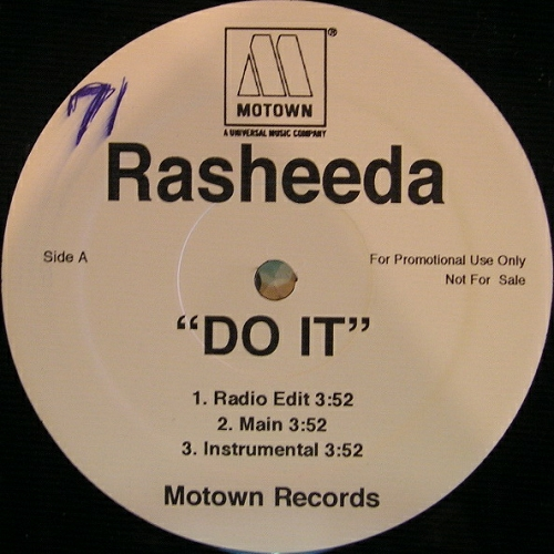 Rasheeda - Do It (12'' Vinyl, Promo) cover