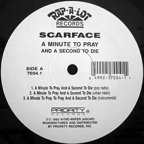 Scarface - A Minute To Pray And A Second To Die (12'' Vinyl) cover