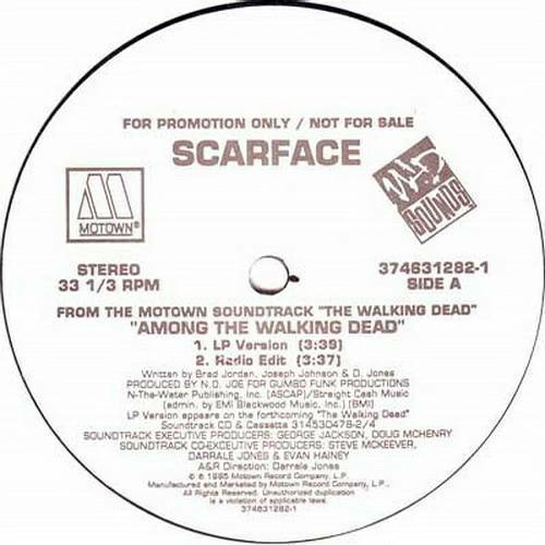 Scarface - Among The Walking Dead (12'' Vinyl, 33 1-3 RPM, Promo) cover