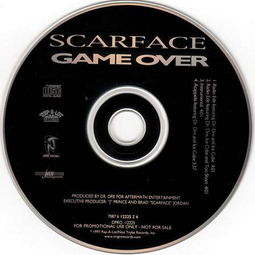 Scarface - Game Over (CD Single, Promo, Rap-A-Lot) cover