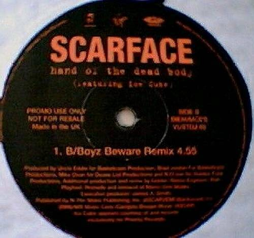 Scarface - Hand Of The Dead Body (The Goldie Mixes) (12'' Vinyl, 45 RPM, Promo) cover