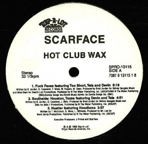 Scarface - Hot Club Wax (12'' Vinyl, 33 1-3 RPM, EP) cover