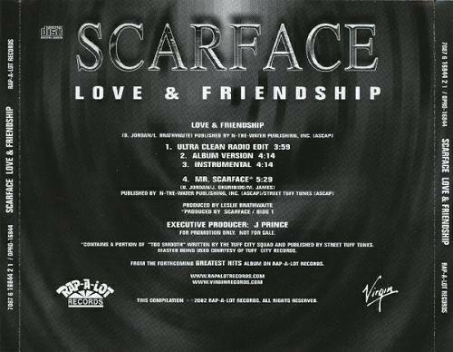 Scarface - Love & Friendship (CD Promo) cover