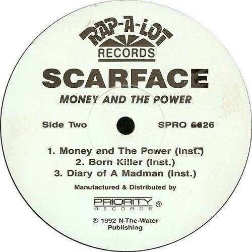 Scarface - Money And The Power (12'' Vinyl, Promo) cover