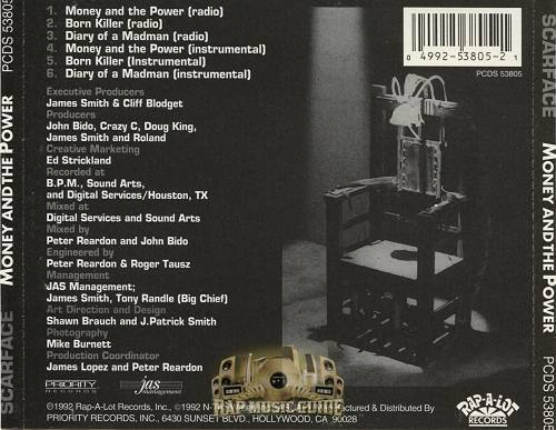 Scarface - Money And The Power (CD Single, Promo) cover