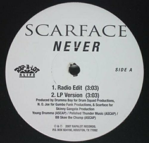 Scarface - Never (12'' Vinyl) cover