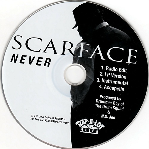 Scarface - Never (CD Single) cover