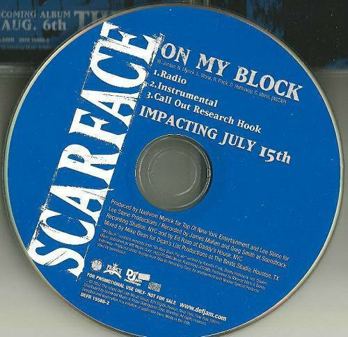 Scarface - On My Block (CD Promo) cover