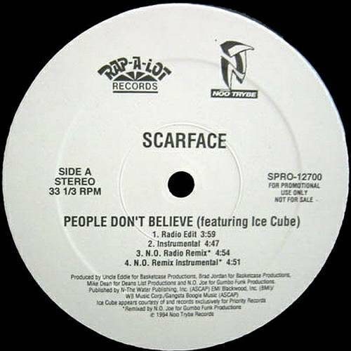 Scarface - People Don`t Believe (12'' Vinyl, Promo) cover