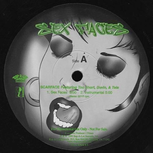 Scarface - Sex Faces (12'' Vinyl, 33 1-3 RPM, Promo) cover