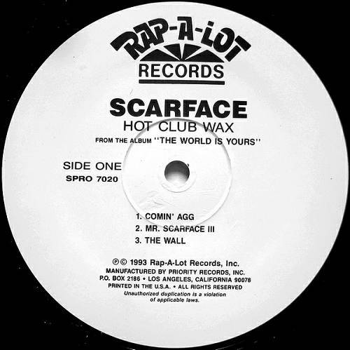Scarface - The World Is Yours (12'' Vinyl, Sampler) cover