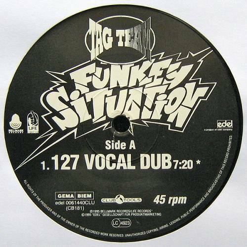 Tag Team - Funkey Situation (12'' Vinyl, 45 RPM) cover