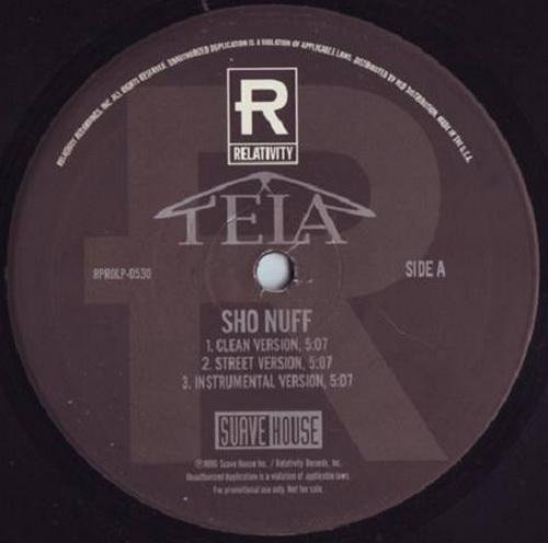 Tela - Sho Nuff / Suave House (12'' Vinyl, Promo) cover