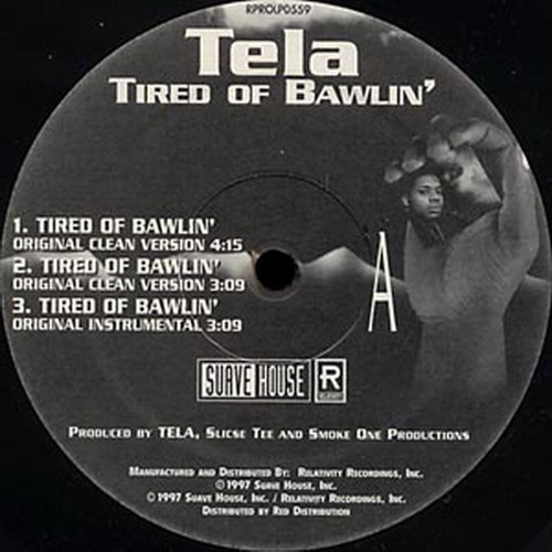 Tela - Tired Of Bawlin` (12'' Vinyl) cover