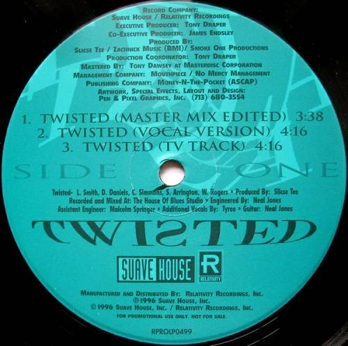 Tela - Twisted (12'' Vinyl, Promo) cover